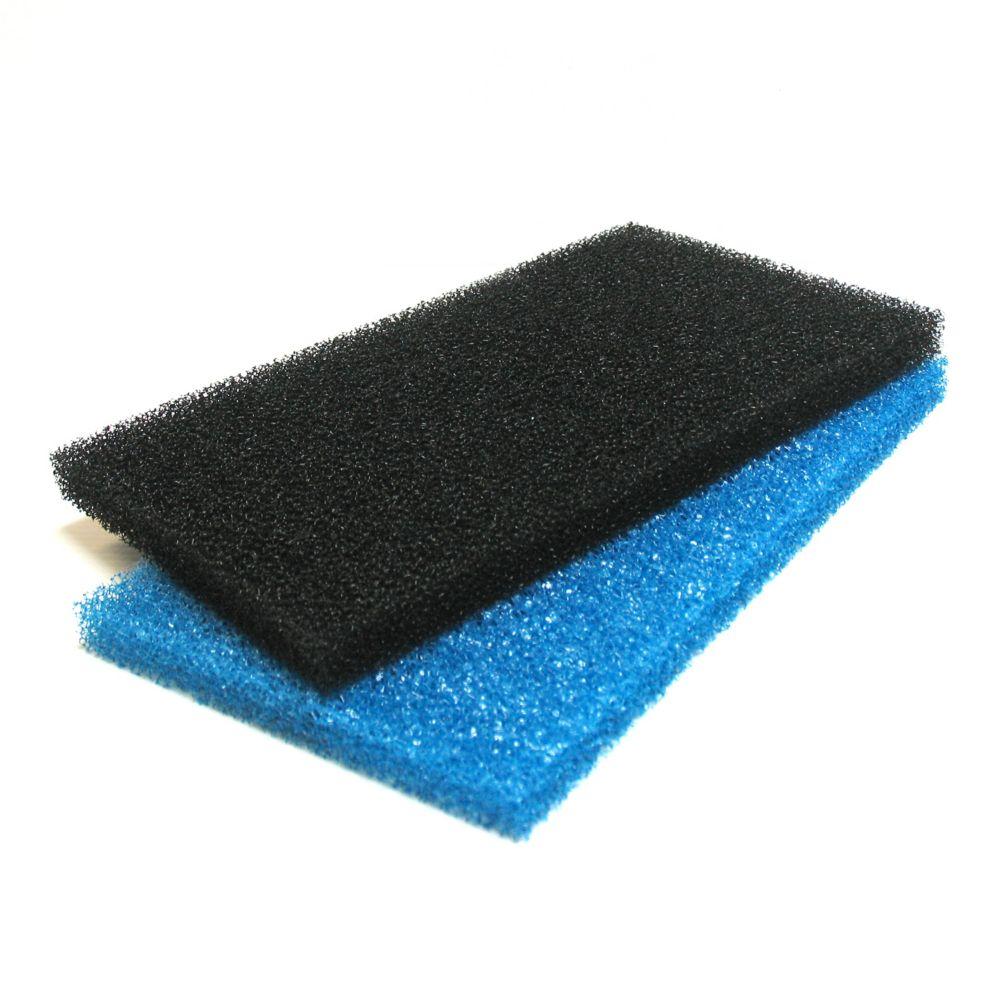 Filtration de remplacement rude et fin pour Déversoir cascade filtre 40 cm