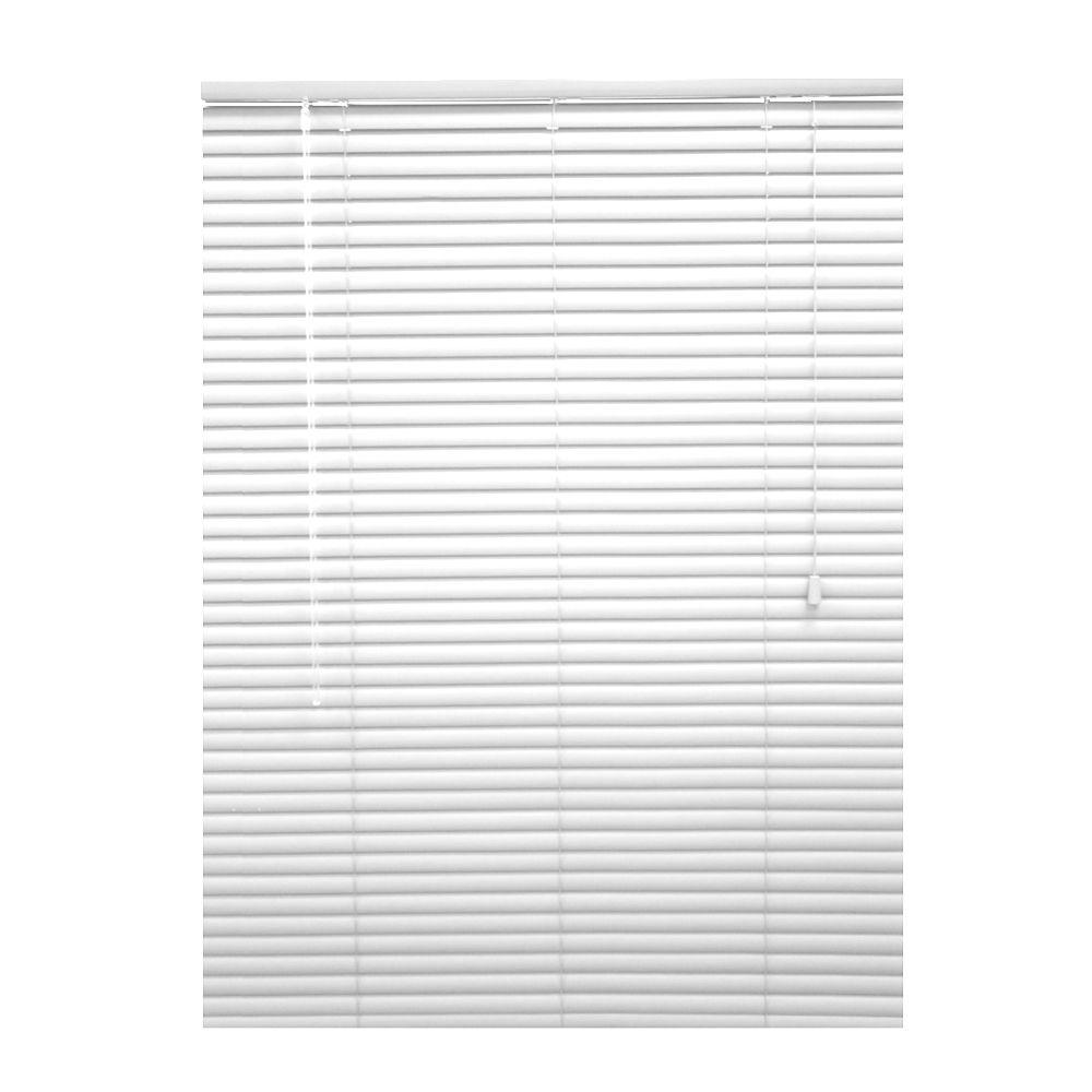 54x48 White 1 3/8 in. Premium Vinyl Blind (Actual width 53.5 in.)
