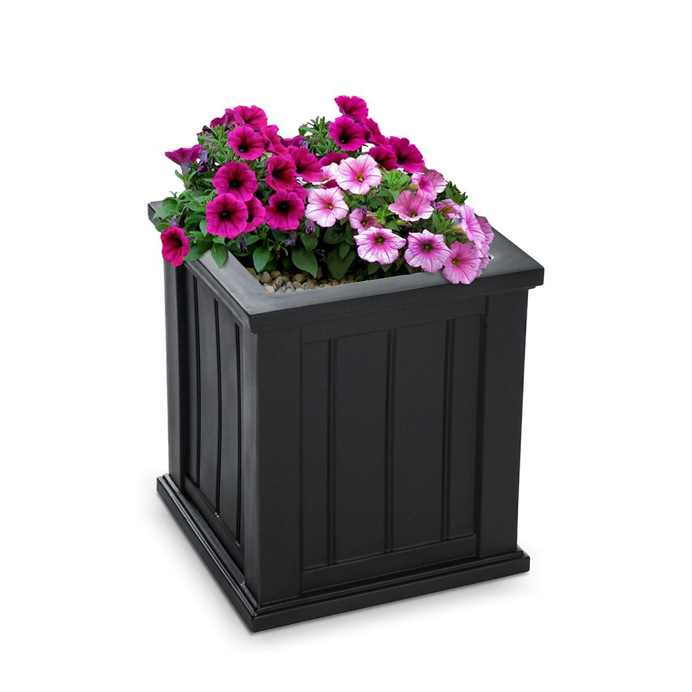 Cape Cod Planter 16 x 16 - Black