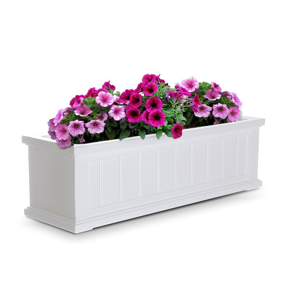 Cape Cod Window Box 3 Feet - White