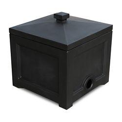 Mayne Fairfield Garden Hose Bin in Black