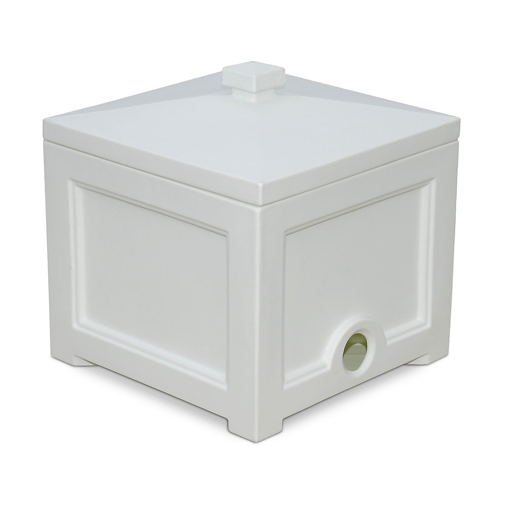 Fairfield Garden Hose Bin in White