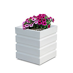 Mayne Freeport 18-inch x 18-inch Patio Planter in White