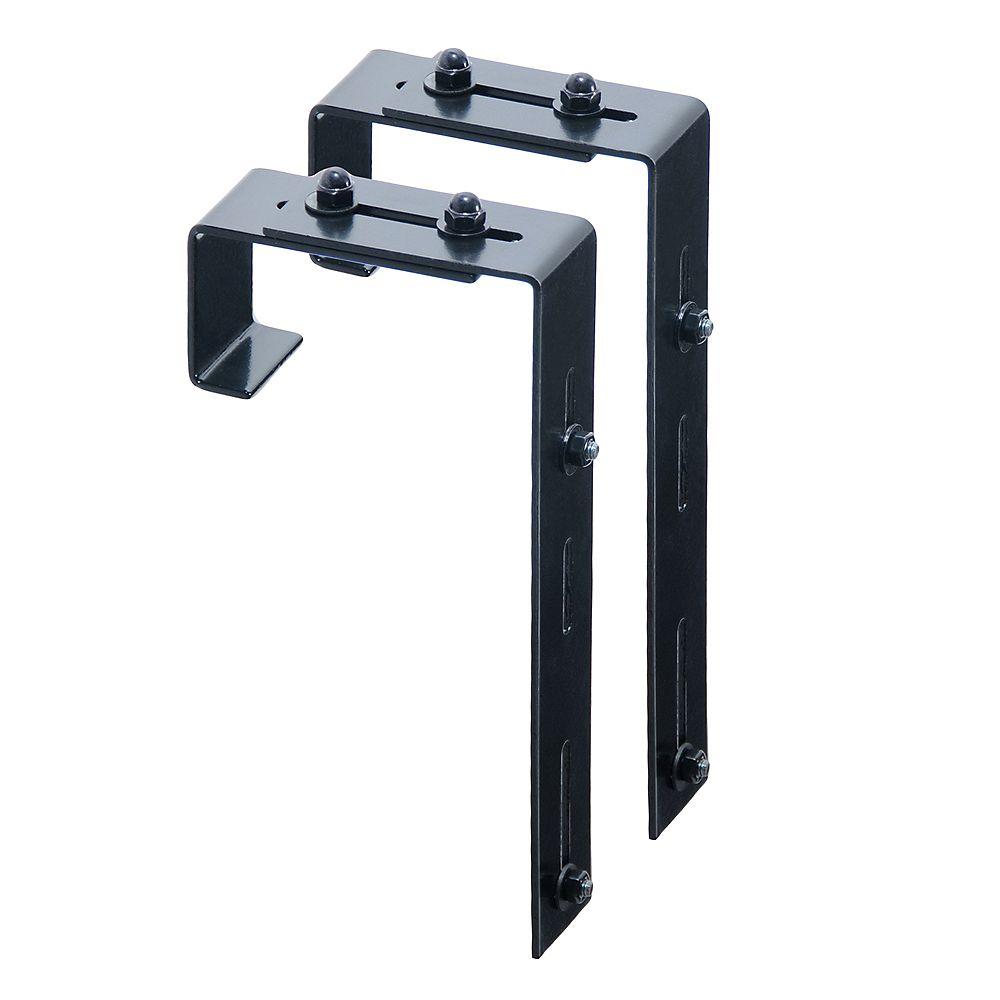Mayne Adjustable Deck Rail Bracket 2-pack
