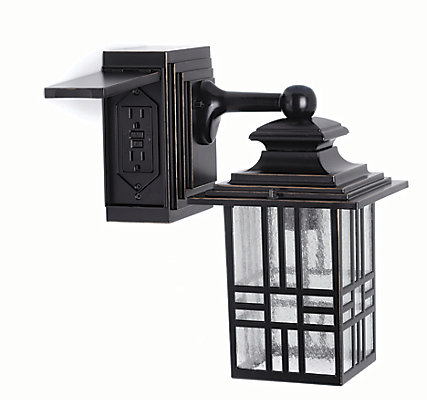 Hampton Bay Hampton Bay Mission Style Exterior Wall Lantern with ...