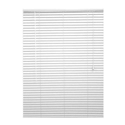 Hampton Bay HB 18x72 1 3/8 Vinyl B/O Blind White
