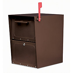 Architectural Mailboxes Oil Rubbed Bronze Oasis Jr. Locking Post Mount Mailbox