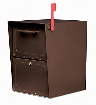Architectural Mailbo Oil Rubbed Bronze Oasis Jr Locking Post Mount Mailbox The Home Depot Canada