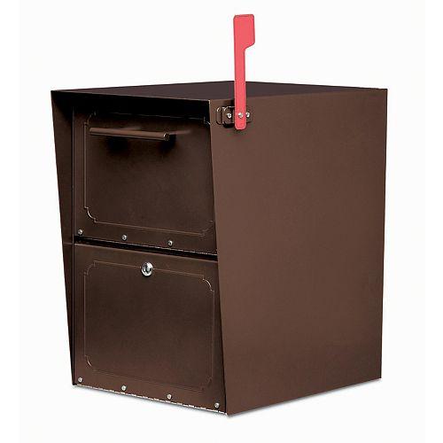 Architectural Mailboxes Boîte aux lettres verrouillable Oasis Jr. en bronze huilé, à montage sur piédestal