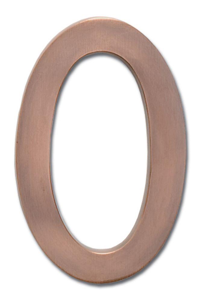 Chiffre flottant du numéro de la maison, 5 pouces, en laiton fondu massif à fini cuivre patiné, «...