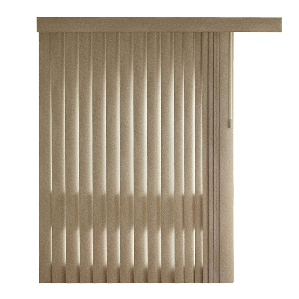 84 Inch Prairie Tweed 4.5 Inch Embossed Vertical Blind Louvers (Actual length 82.5 Inch)