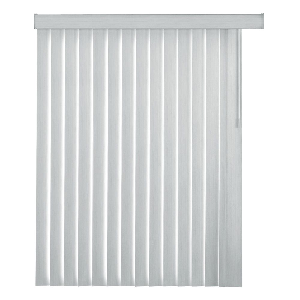 84 Inch Whisk Rustic White 4.5 Inch Embossed Vertical Blind Louvers (Actual length 82.5 Inch)