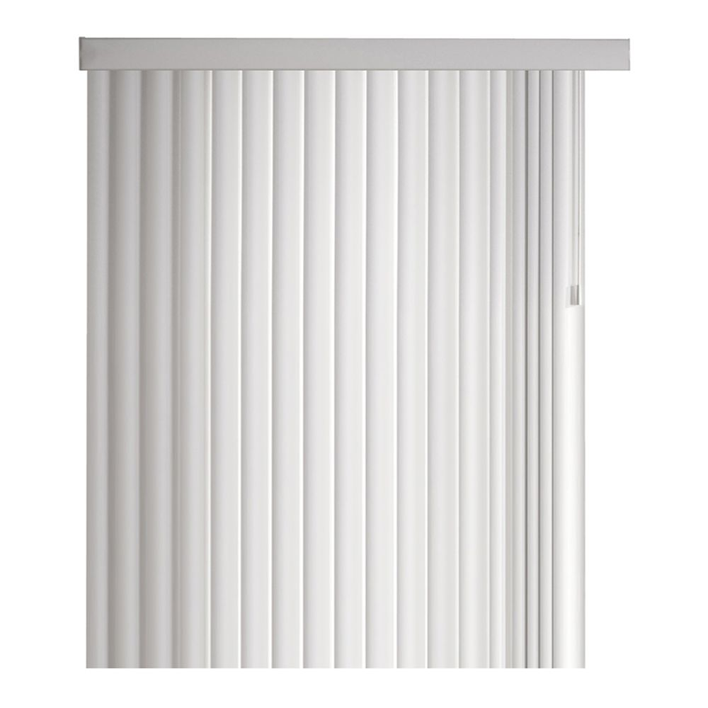 104x84 White 4.5 Inch Crown Vertical Blind Kit (Actual width 104 Inch)
