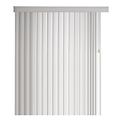 Home Decorators Collection 104x84 White 4.5 Inch Crown Vertical Blind Kit (Actual width 104 Inch)