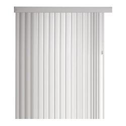 Home Decorators Collection Ensemble de store vertical couronné de 11,4cm (4 ½ po), Blanc, 264cmx213cm (Largeur réelle 264cm)