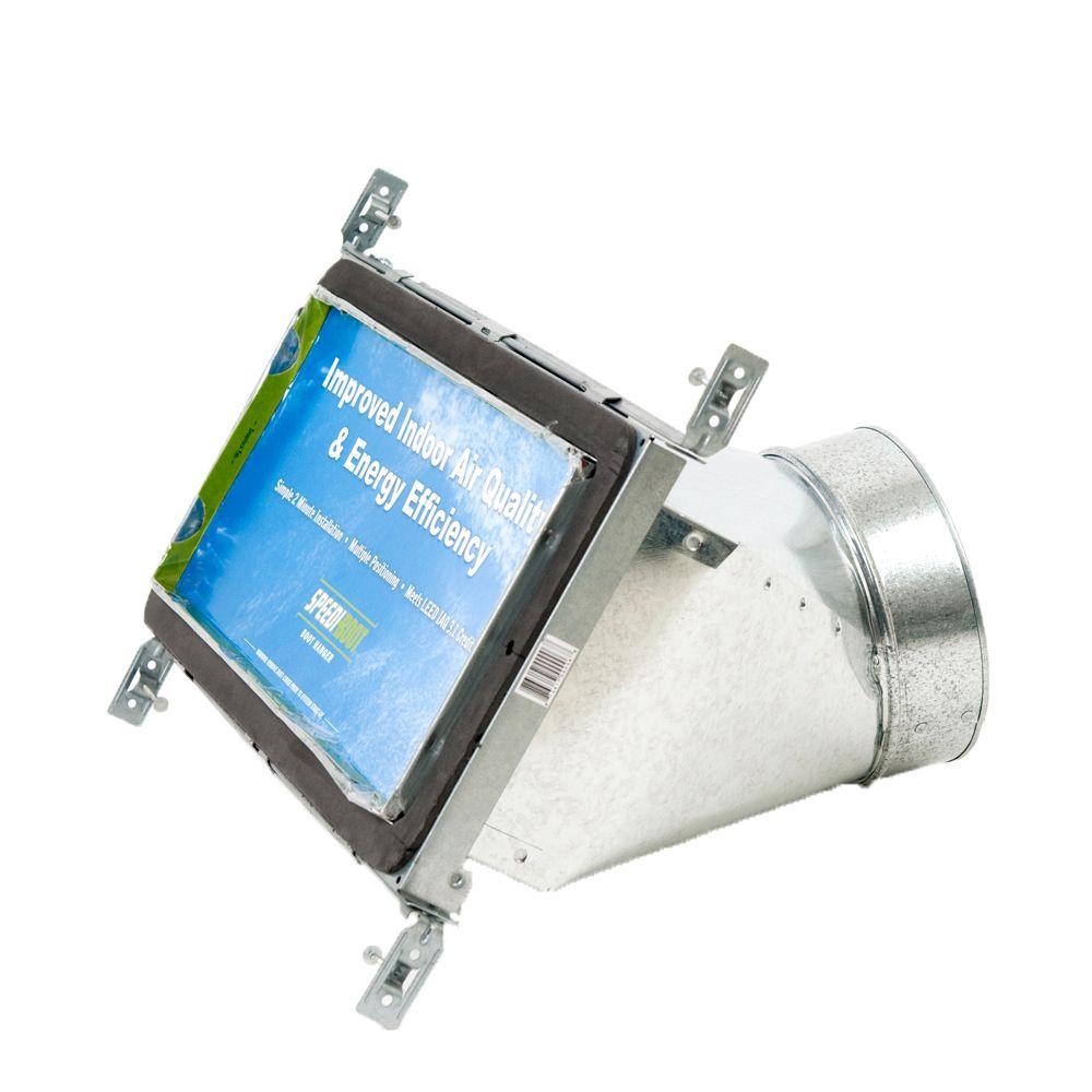 Bouche d'aération avec registre à 45 degrés et fixations réglables pour conduit de CVCA 6 po x 14...