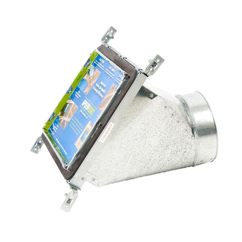 Bouche d'aération avec registre à 45 degrés et fixations réglables pour conduit de CVCA 6 po x 10...