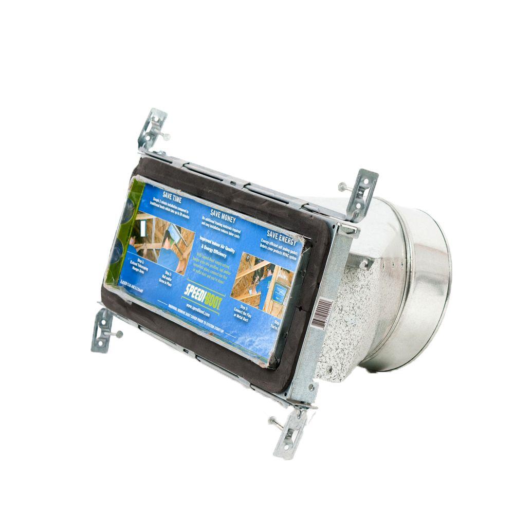 Bouche d'aération droite à registre avec fixations réglables pour conduit de CVCA 4 po x 12 po x ...