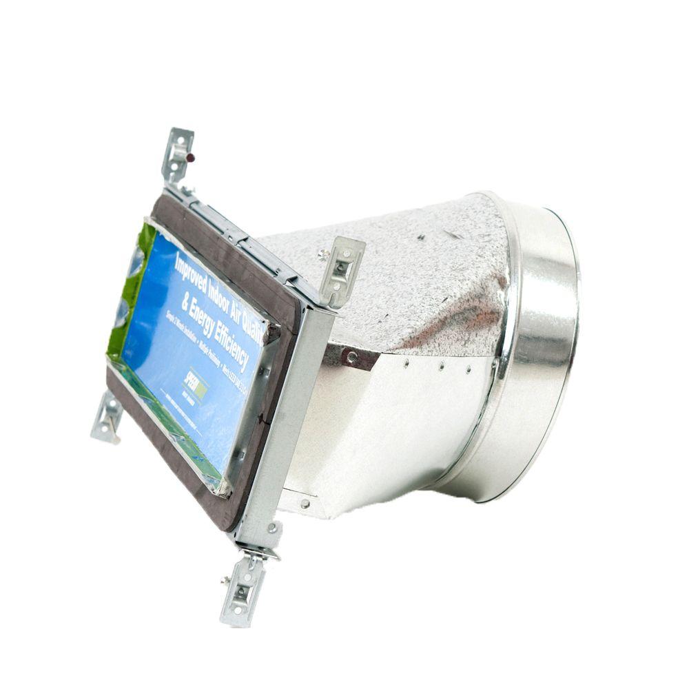 Bouche d'aération droite à registre avec fixations réglables pour conduit de CVCA 4 po x 14 po x ...