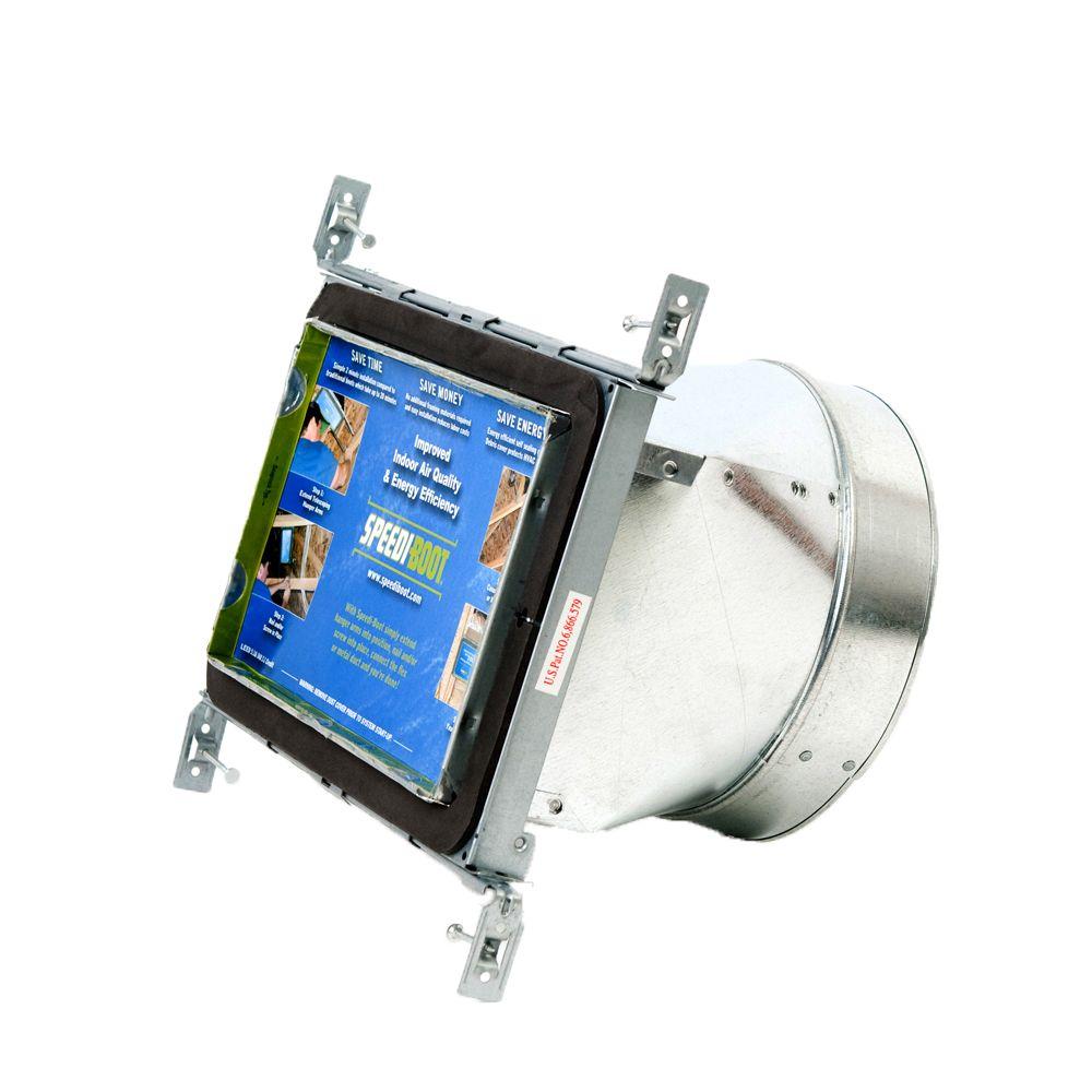 Bouche d'aération droite à registre avec fixations réglables pour conduit de CVCA 8 po x 10 po x ...