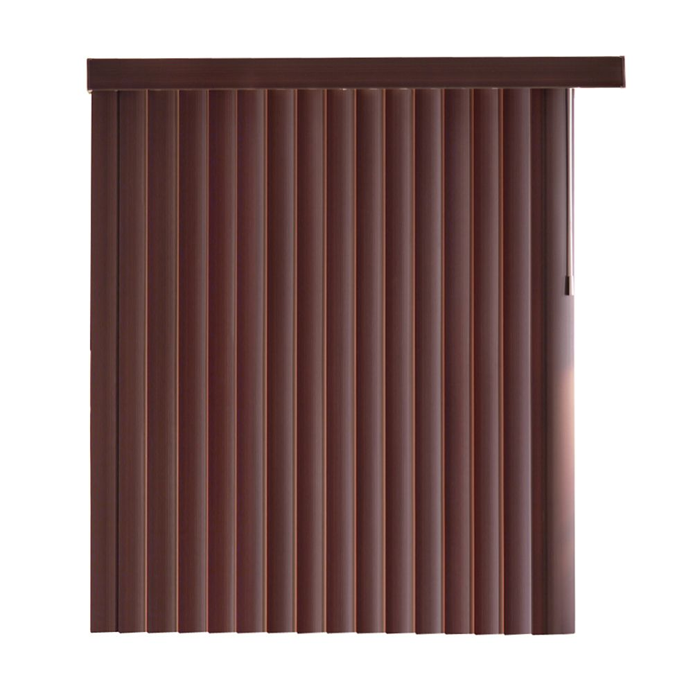Home Decorators Collection 78x84 Espresso Bamboo 4 5 Inch Embossed Vertical Blind Kit Actual