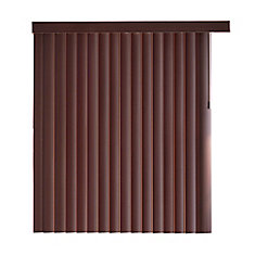 78x84 Espresso Bamboo 4.5 Inch Embossed Vertical Blind Kit (Actual width 78 Inch)