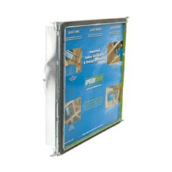 Speedi-Boot 16 in. x 16 in. x 16 in. Square to Round Adaptor Register Vent Boot with Adj. Hangers for HVAC Duct Work