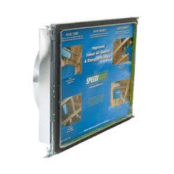 Speedi-Boot Bouche d'aération carrée à ronde à registre avec fixations réglables pour conduit de CVCA 20 po x 25 po x 14 po