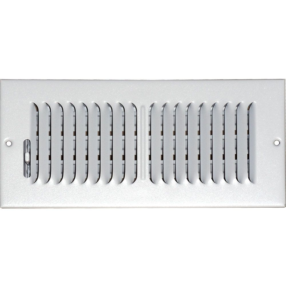 Grille daération à double déflexion pour plafond ou mur 4 po x 8 po