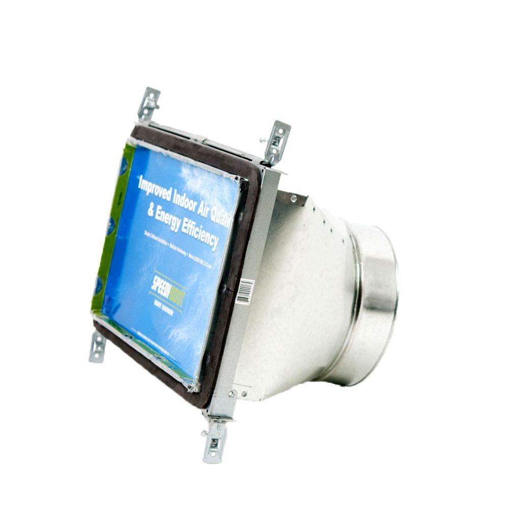 Bouche d'aération droite à registre avec fixations réglables pour conduit de CVCA 8 po x 14 po x ...