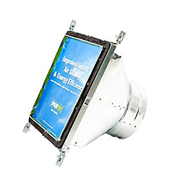 Speedi-Boot 12 in. x 12 in. x 12 in. Square to Round Adaptor Register Vent Boot with Adj. Hangers for HVAC Duct Work
