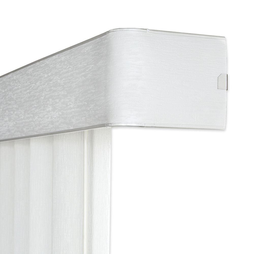 104x White 4.5 Inch Vertical Blind Headrail (Actual width 104 Inch)