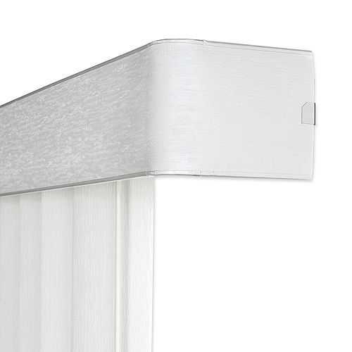 Home Decorators Collection 104x White 4.5 Inch Vertical Blind Headrail (Actual width 104 Inch)