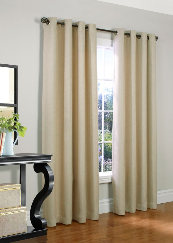Brooks Solid Insulated Grommet Panel 54 Inches X 95 Inches - Beige