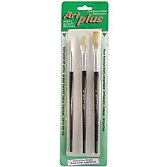 3pc Flat Art Plus Brush Set