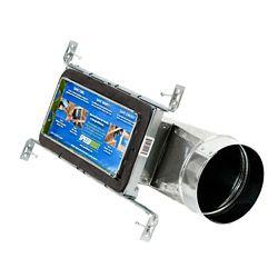 Speedi-Boot Bouche d'aération à registre et extrémité torpille avec fixations réglables pour conduit de CVCA 4 po x 10 po x 6 po