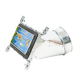 Speedi-Boot Bouche d'aération avec registre à 45 degrés et fixations réglables pour conduit de CVCA 4 po x 10 po x 7 po