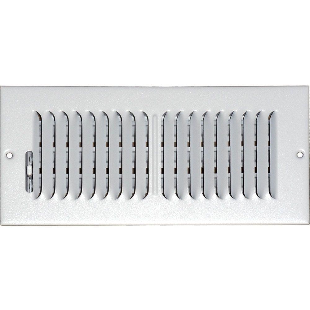 Grille daération à double déflexion pour plafond ou mur 4 po x 10 po