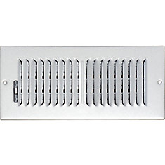 4 in. x 10 in. Hands Free Ceiling or Wall Register Cover with 2 Way Deflection