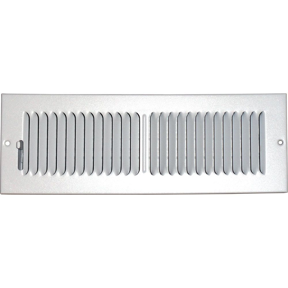 4 in. x 14 in. Hands Free Ceiling or Wall Register Cover with 2 Way Deflection
