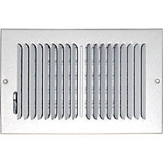 6 in. x 10 in. Hands Free Ceiling or Wall Register Cover with 2 Way Deflection
