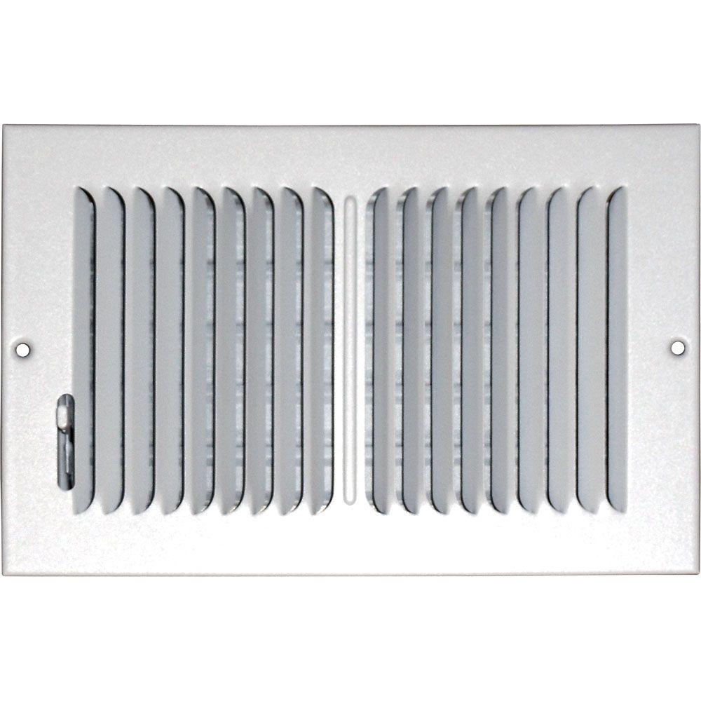 6 in. x 12 in. Hands Free Ceiling or Wall Register Cover with 2 Way Deflection