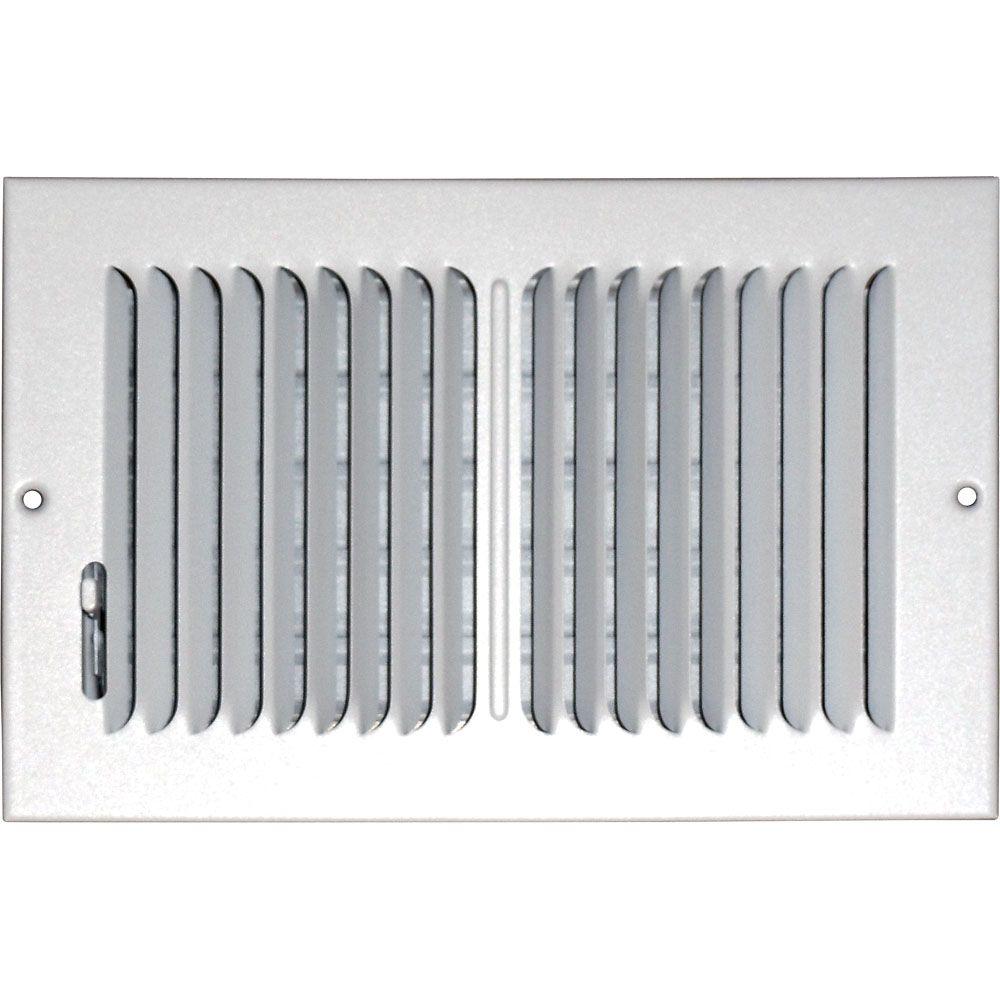 Grille daération à double déflexion pour plafond ou mur 6 po x 12 po