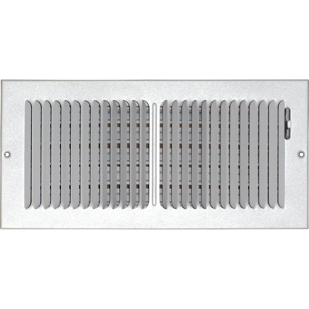 6 in. x 14 in. Hands Free Ceiling or Wall Register Cover with 2 Way Deflection