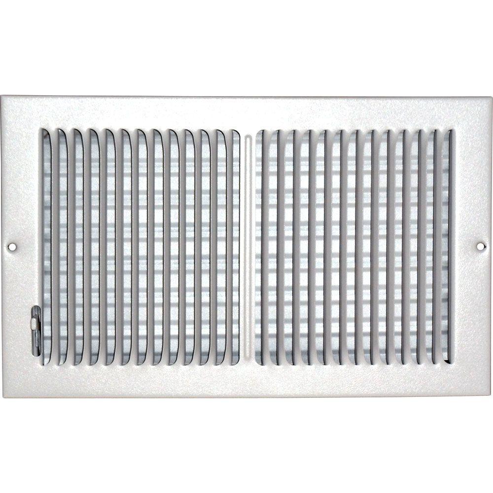Grille daération à double déflexion pour plafond ou mur 8 po x 14 po