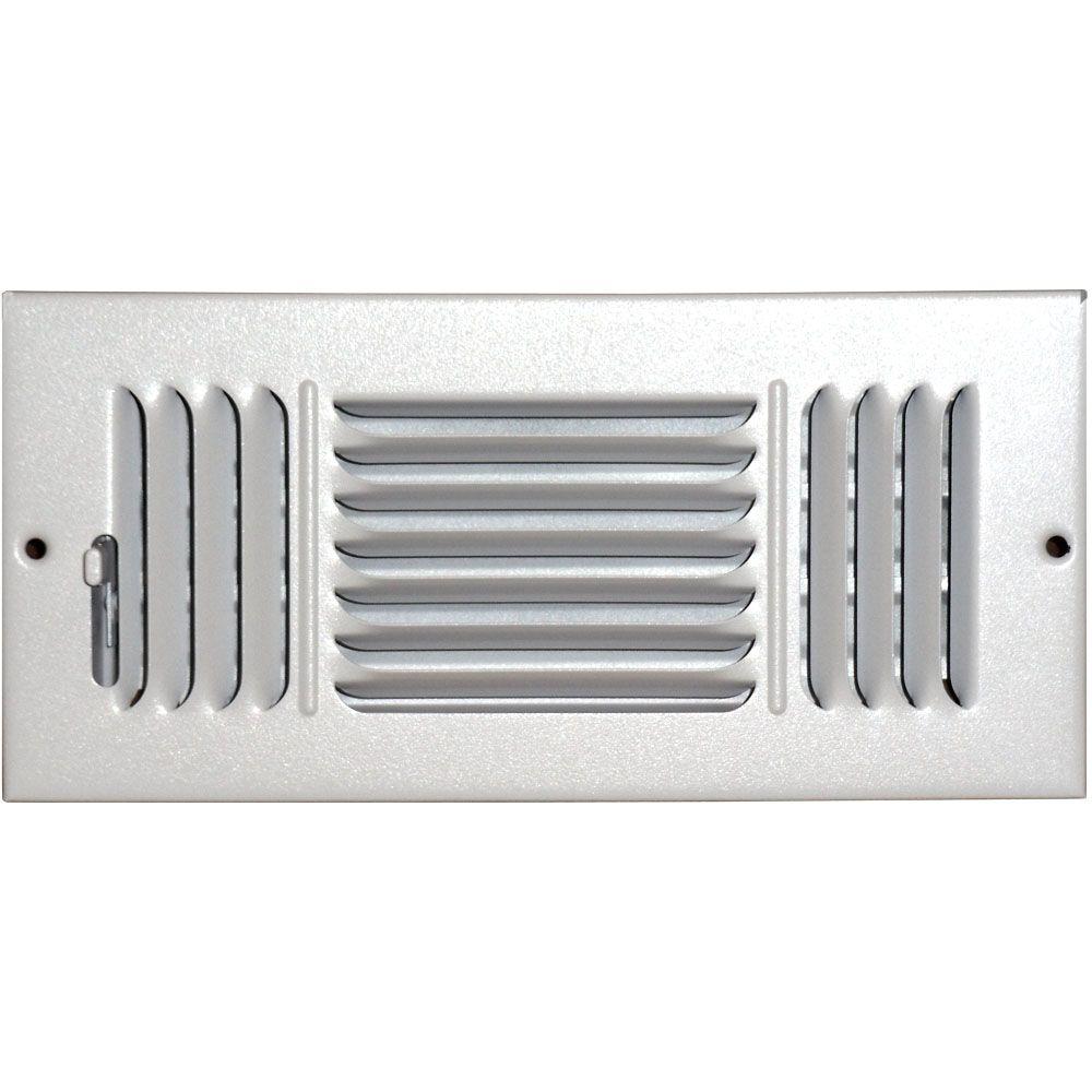 Grille daération à triple déflection pour plafond ou mur 4 po x 10 po