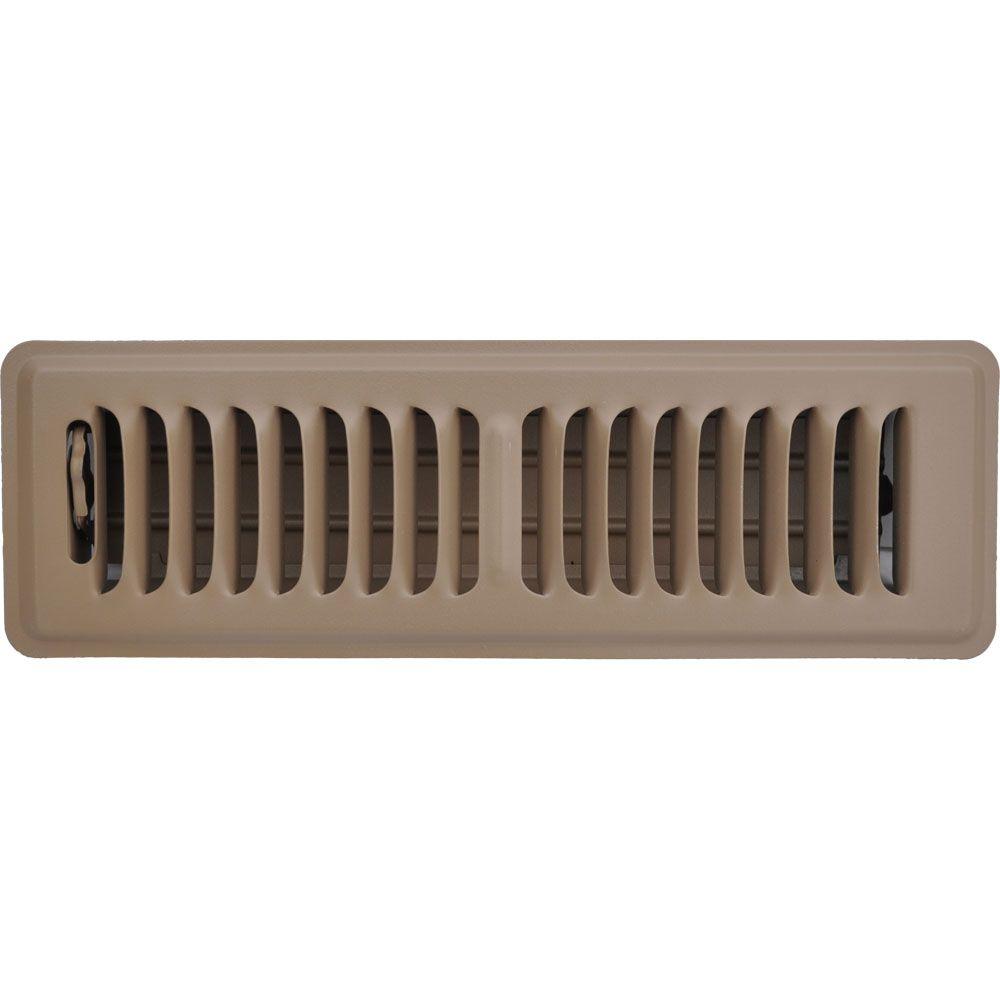 2 in. x 10 in. Brown Floor Register Vent Cover