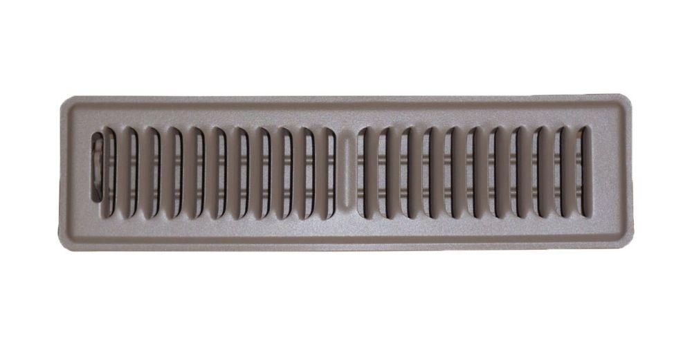 2 In. x 12 In. Brown Floor Register Vent Cover