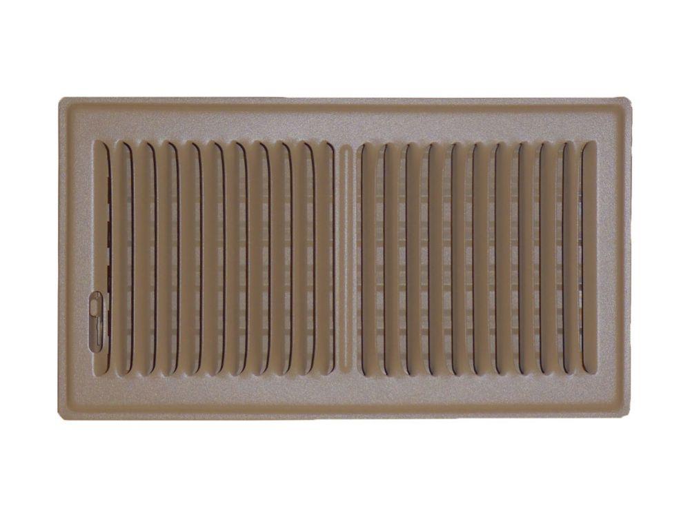 6 in. x 10 in. Brown Floor Register Vent Cover