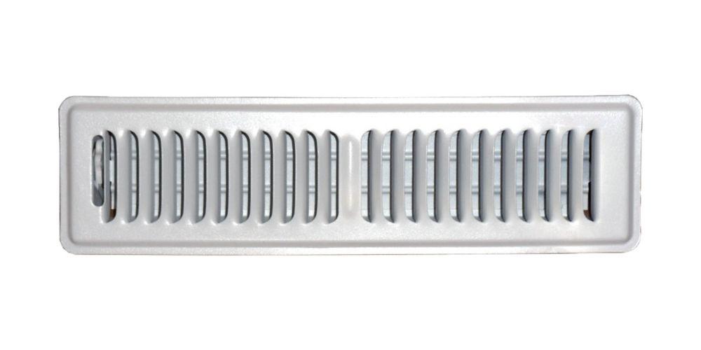 2 in. x 12 in. White Floor Register Vent Cover